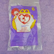 Ty Teenie Beanie Baby Happy Hippo Toy Animal 1998 McDonalds #6 - $7.92