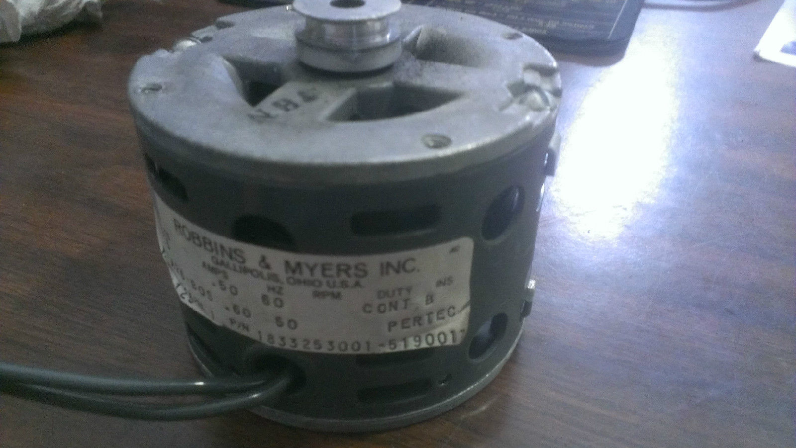 Primary image for K-A26-BOS, Robbins & Myers, 115V 0.6A 60Hz Motor 1/125HP 1650RPM