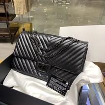Chanel Black 2.55 Reissue SO BLACK CHEVRON Calfskin 227 Jumbo Double Flap Bag image 3
