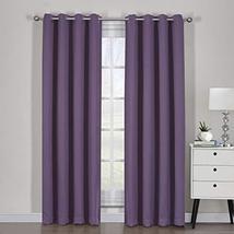 "54""x84"" Pair Purple Blackout Weave Curtain Panels with Tie Backs Pair (S... - $55.44"