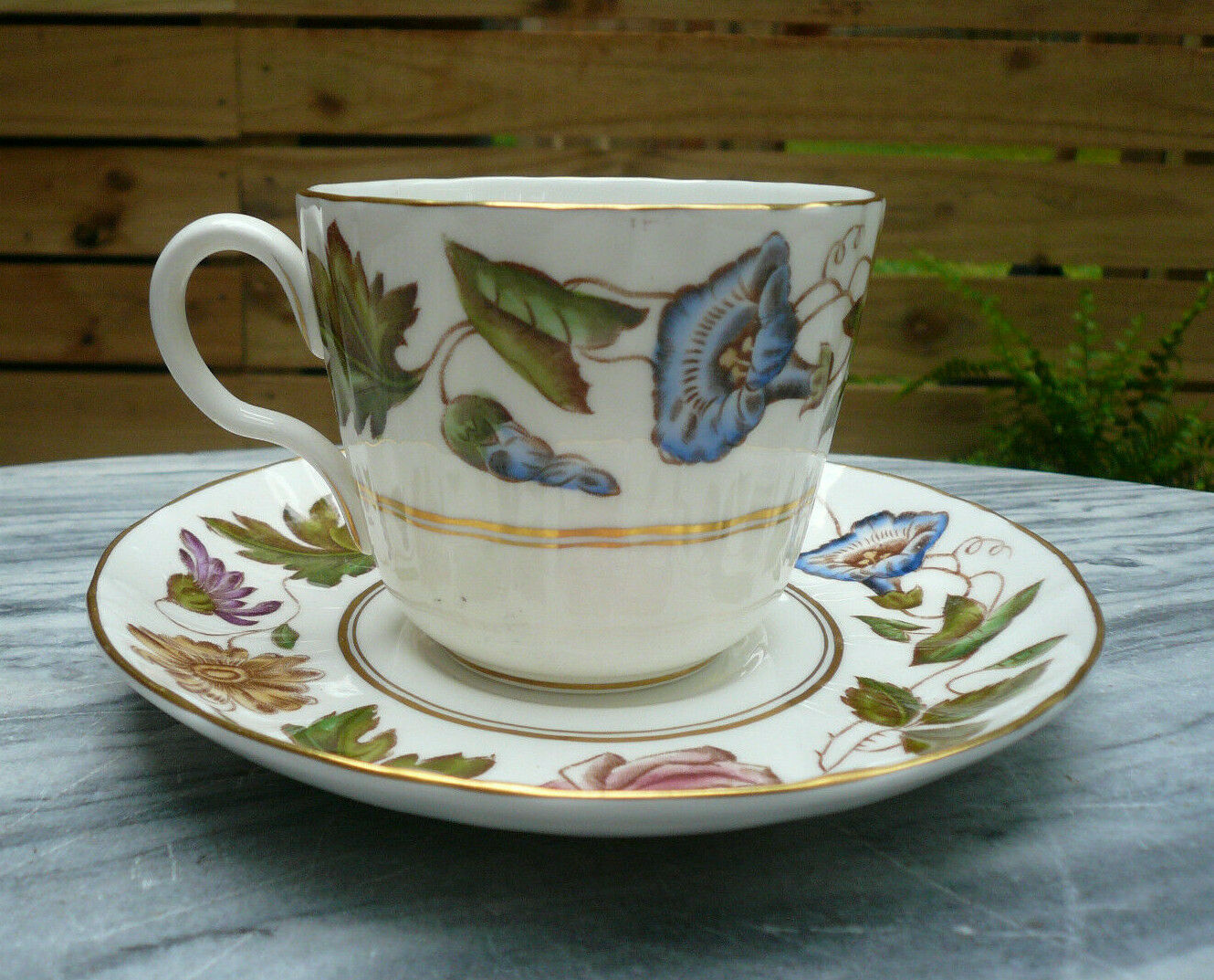 Vintage Royal Worcester VIRGINIA Fine China Cup & Saucer Z2307 Discontinued