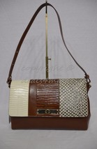NWT! Brahmin Thea Shoulder Bag in Brown Sahara Tri-Texture Embossed Leather - $289.00