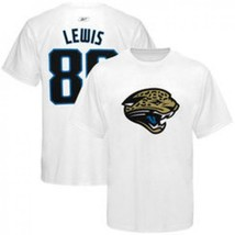 New #89 Marcedes Lewis Jacksonville Jaguars Reebok White Small Jersey T-Shirt - $14.80
