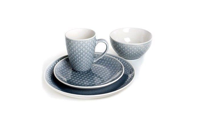 Palma 16 Piece Dinnerware Set in Gray by Euro Ceramica image 3
