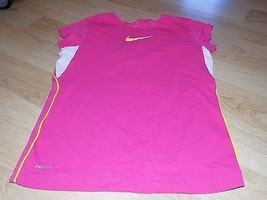 b843be26 Girl's Size XL Nike Dri-Fit Pink White Yellow Athletic Shirt