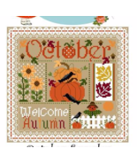 October Monthly Sampler 2017 series cross stitch chart Sugar Stitches  - $10.00