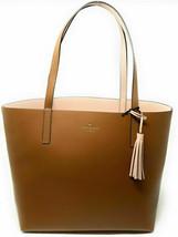 NWT Kate Spade Lakeland Marina Reversible Brown/Pink Leather Tote WKRU5342 FS - $149.99