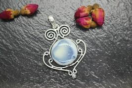 Aphrodites devine Beauty !!! Blue Opal Gemstone 925 Silver Pendant Handmade - $29.10