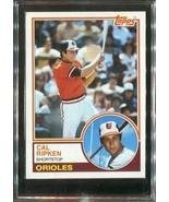 1983 Topps Card #163 Orioles Cal Ripken Jr. - $4.00