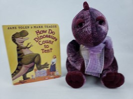 "How Do Dinosaurs Count to Ten Purple Dinosaur 9"" Plush & Book  - $18.14"