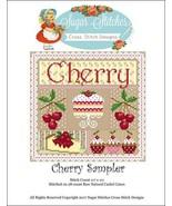 Cherry Sampler cross stitch chart Sugar Stitche... - $10.00
