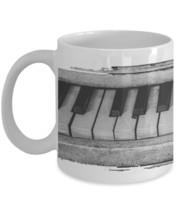 "Piano Coffee Mug ""Full Piano Keys Around Whole Mug"" Black and Piano Piano Mug - $14.95"
