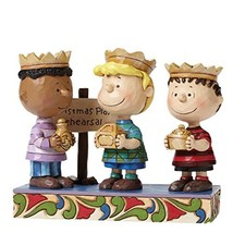 Peanuts by Jim Shore Three Wise Men Linus, Schroeder, Franklin Stone Res... - $77.96