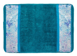 Popular Bath Tammi Aqua Bath Collection - 21 x 32 Banded Bathroom Rug - $27.49