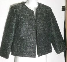 GAP Black Jacket Blazer 6 Sparkle Open Front Lined Career Dress - $12.86