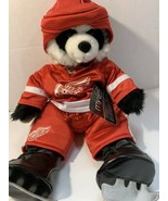 Build A Bear Panda Bear Detroit Red Wings NHL Hockey Uniform Outfit Skat... - $59.95