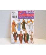 Biblical Costume Pattern Simplicity 4797 Kids S M L King Nativity Angel ... - $3.60