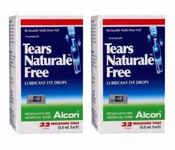 2 X ALCON TEARS NATURALE FREE Lubricant Eye Drops 32 vials 0.8ml FREE SH... - $27.00