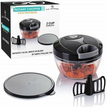 Home Food Processor Chopper 2 Cup Tomato Onion Garlic Fruit Slicer Cutte... - $44.64