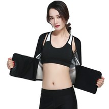 Sweat Yoga Top Gym Sports Shirt Women Fitness(BLACK M) - $28.85