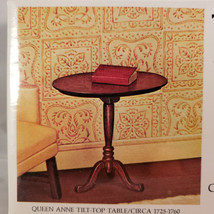 House Of Miniatures Queen Anne Tilt Top Table, New Old Stock Model 40008 - $8.80