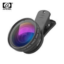 APEXEL APL-0.45WM Phone Lens 0.45X Super Wide Angle 12.5X Super Macro Le... - $17.60