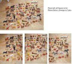 Toy Animals Play Set Figures Vintage horse pig turkey squirrel skunk mon... - $26.99