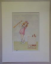 "Mary Engelbreit Print Matted 8 x 10 ""The Swinger"" - $16.40"