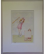 """Mary Engelbreit Print Matted 8 x 10 """"The Swinger"""" - $16.40"""