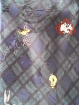 Looney Tunes Mania Tie Taz Daffy Sylvester Tweety & Bugs Necktie Novelty... - $14.99