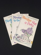 "Vintage 1973 Set of 3 ""Monster"" books from Bowmar"