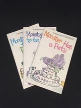 "Vintage 1973 Set of 3 ""Monster"" books from Bowmar image 1"