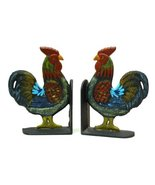 Cast Iron Rooster Bookends Set - $46.50