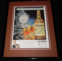 1959 Old Charter Whiskey 11x14 Framed ORIGINAL Vintage Advertisement - $46.39