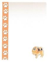 Pomeranian Dog Stationery Printer Paper 51 Sheets - $16.14