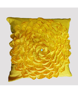 Yellow Ruffled Petals Cotton Pillow Sham Cover - $25.99+