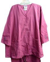 Landau Scrub Set Freesia 2XL V Neck Top Drawstrng Pants Women's Discontinued image 8