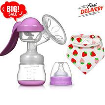 Manual Extractor De Leche Con Tapa Lactancia Materna Botella Sacaleches ... - $22.43