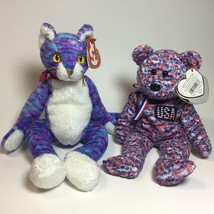 TY Beanie Baby - Kooky and USA Stuffed Animals Plush Toy 2 For $10 - $9.90