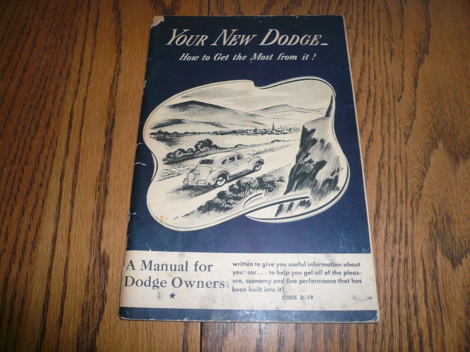 1941 Dodge Cars Code D-19 Instruction Book - Owner's Manual - Vintage  Original