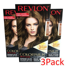 3 pack Revlon Colorsilk All in one Buttercream Hair Dye, Dark Beige Blonde - $27.67