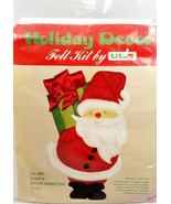 Holiday Decor Felt Kit by Titan 1977 Christmas Santa Door Greeter  - $25.14