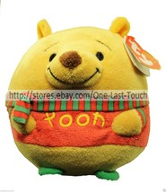 TY Beanie Ballz WINNIE THE POOH Collectible Beanbag Plush DISNEY Holiday 1b - $7.29