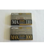Mixed Lot TDK MAX-100 Type IV Metal  Bias Audio Cassette Tapes + MA- 110... - $49.99