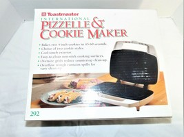 Toastmaster International Pizzelle and Cookie Maker Model 292 Made in USA - €17,58 EUR