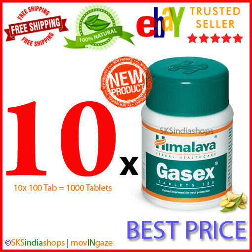 Primary image for 10x Himalaya Herbal Gasex 100 Tablets For Natural Stomach Care
