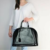 Louis Vuitton Black Epi Electric Leather Alma MM Bag - $899.00
