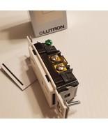 Lutron SCRS-15-TR-SW Snow Claro duplex tamper resistant receptacle.New o... - $16.00