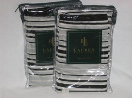 2 Ralph Lauren WILTSHIRE Black White Stripe Euro Shams NIP - $66.45
