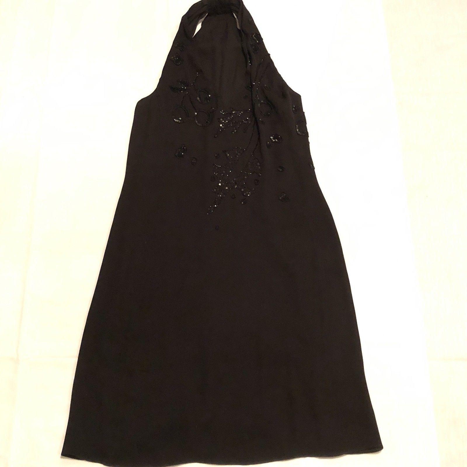 Armani Collezioni Black Halter Lined Dress Size 10 EU 46 Prom Evening image 7